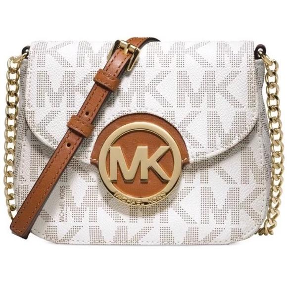 ef60482a252e Michael Kors Bags | Fulton Vanilla Mk Logo Signature Bag | Poshmark